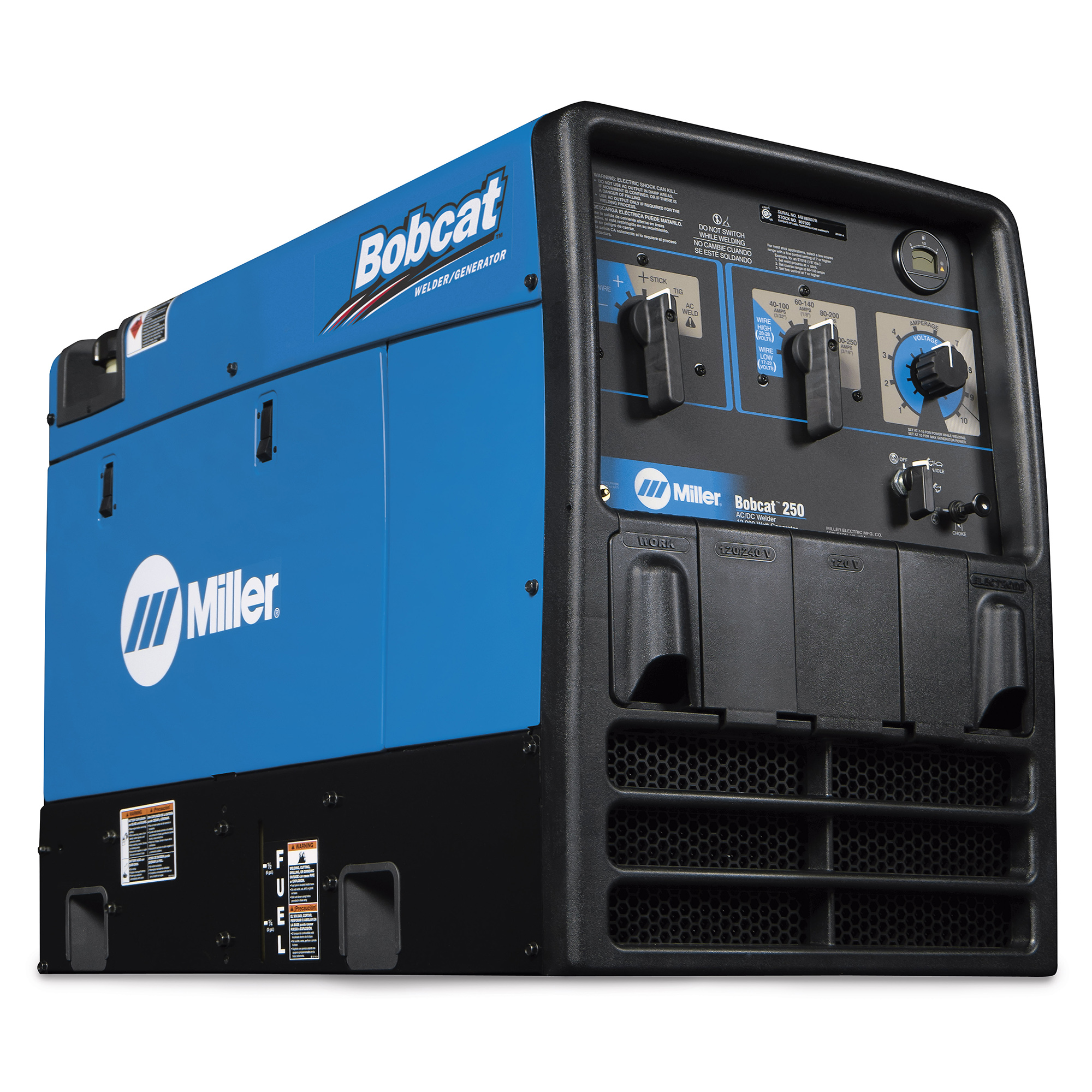 Miller Electric Bobcat 225 250 Diesel Gas LP Propane Generator