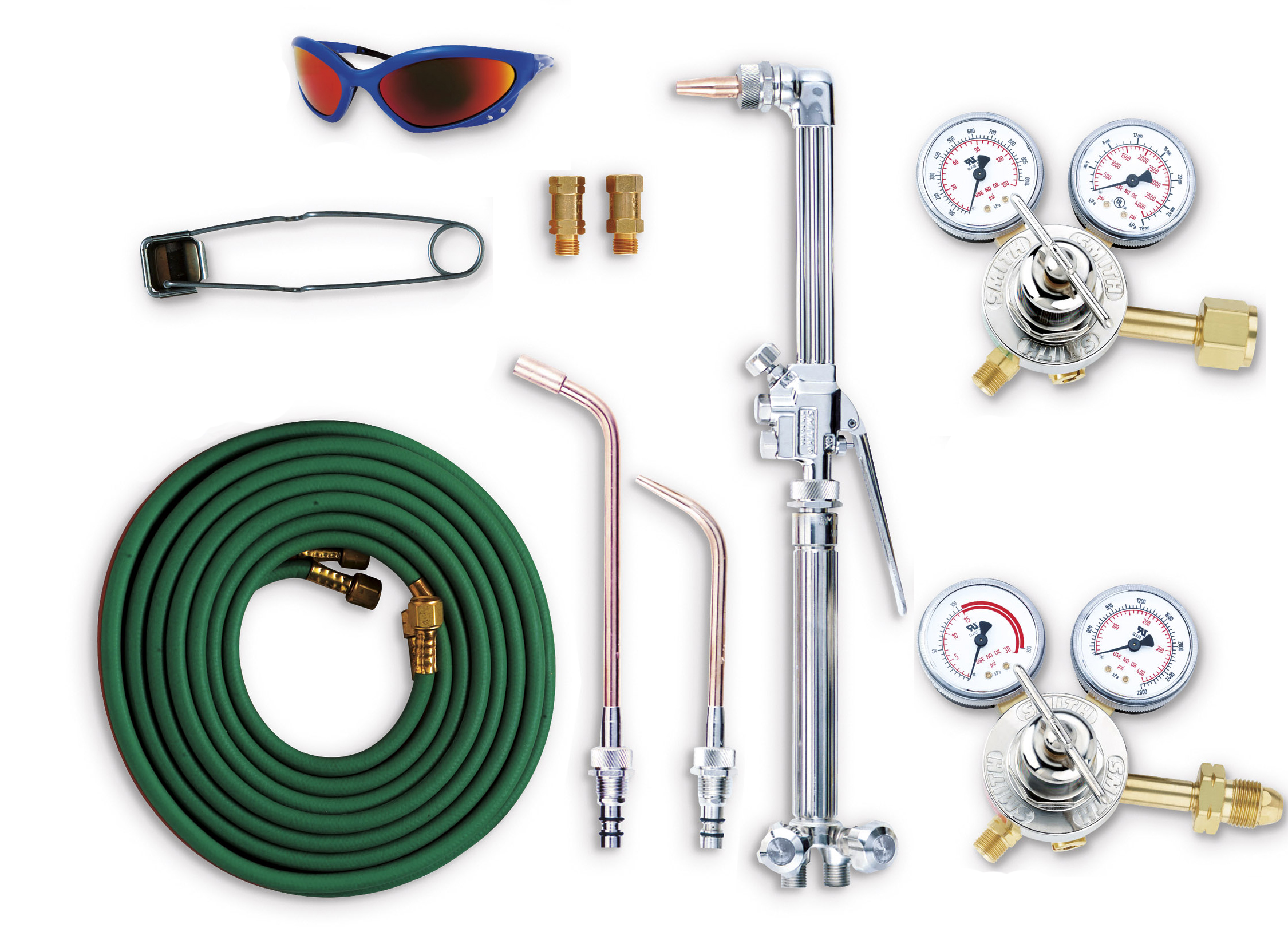 Oxygen Acetylene Kit Torch Regulator Hose Nozzel Striker